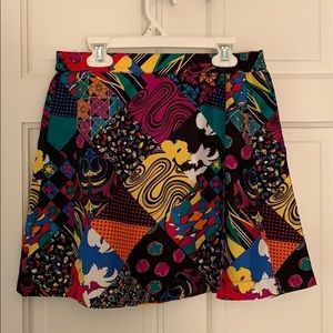 GORGEOUS vintage head mini skirt w/ pleats